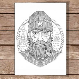Ilustración Blanca The Real Captain